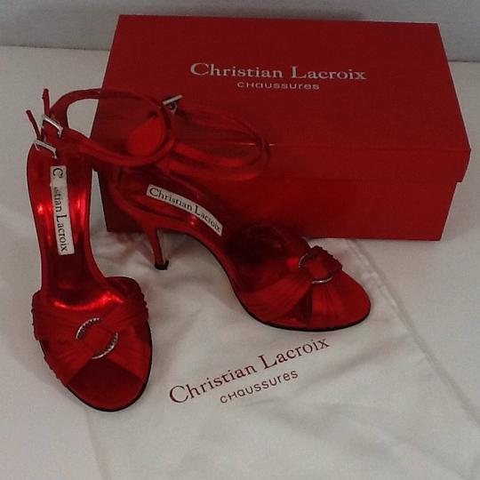 Christian Lacroix Red Sandals Image 2