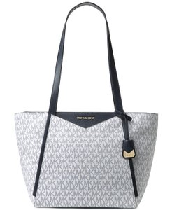 Michael Kors Whitney Small Navy/White Signature Tote in Navy