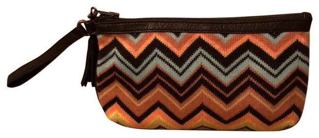 Item - Multicolor Woven with Leather Clutch