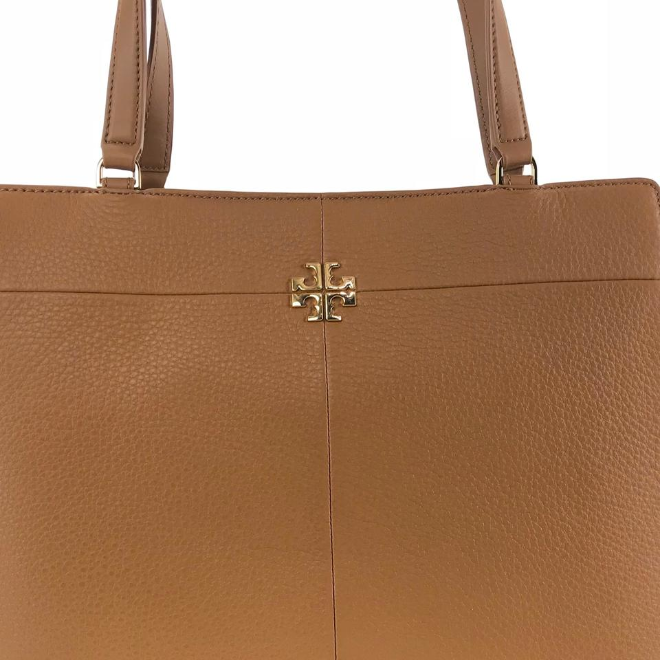 5fcdd807ace Tory Burch Ivy Side-zip Expandable Brown Leather Tote - Tradesy