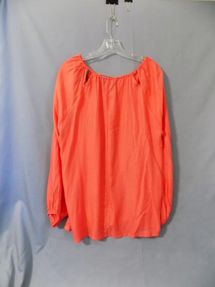 658cd947a6eab Jessica Simpson Orange Lianne   Pjsww13526 Lace Up Front with Tassel Blouse