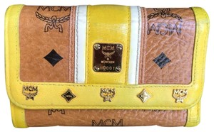 MCM MCM Visetos Cognac/Yellow Medium Wallet