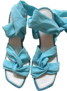PAZZO Baby Blue Wedges
