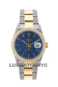 Rolex Free Shipping 3.8ct 36mm Datejust Gold Ss with Box and Appraisal Watch