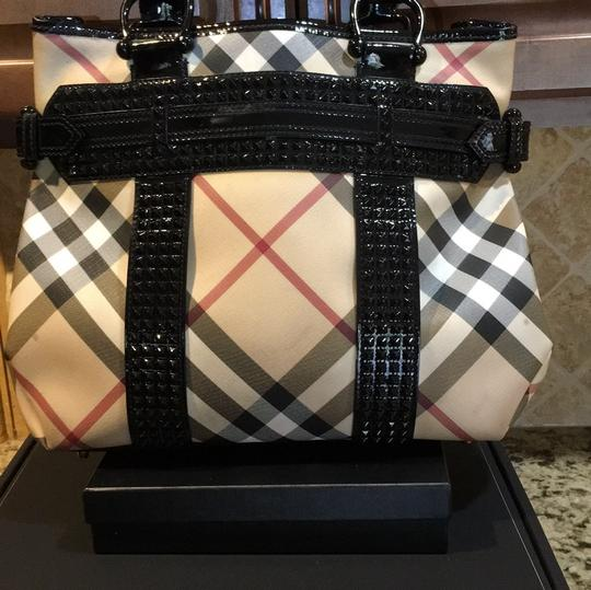 Burberry Tote in Check Coated Image 3