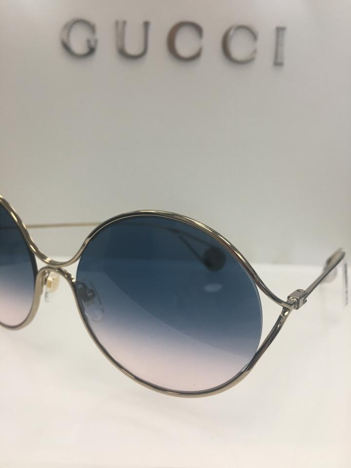 801f8734d1 Gucci Gucci Women s Sensual Romantic GG 0253S 003 Fashion Round Sunglasses  Image 0 ...