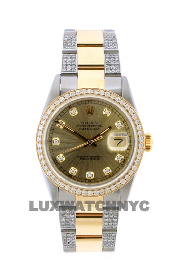 Rolex Free Shipping 3.8ct 36mm Datejust Gold Ss with Box and Appraisal Watch Image 0