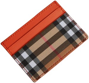 Burberry Vintage Check and Leather Card Case clementine