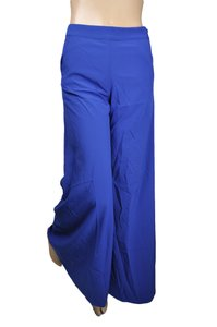 Robin K Palazzo Wide Flare Pants Blue