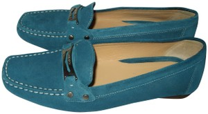 Geox Loafers 37.5 7.5 Blue Turquoise Flats