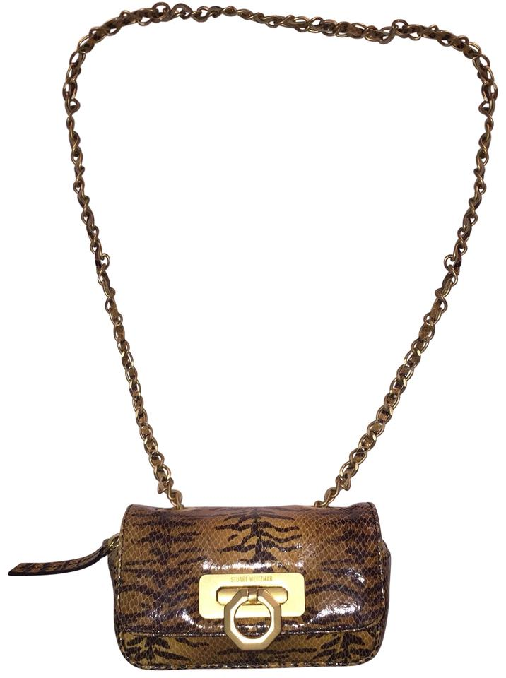 826dd915e0 Stuart Weitzman Collection Glazed Python Shoulder Bag - Tradesy