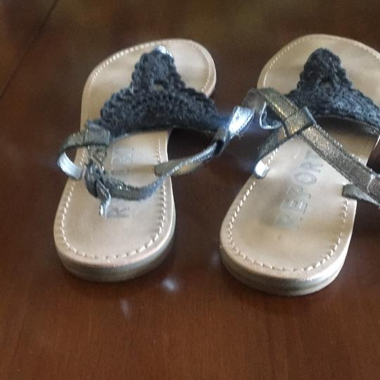 REPORT black Sandals Image 3