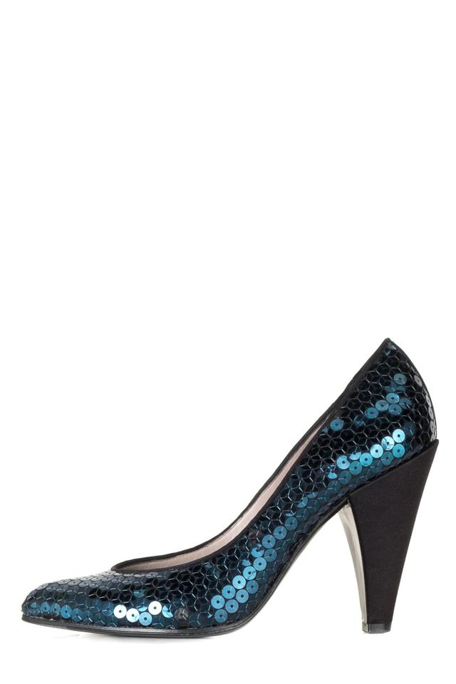 Marc Sequin by Marc Jacobs Blue Sequin Marc Heels Pumps be2cfb