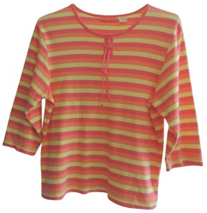 Onque Casuals Top multi color stripes, see photos