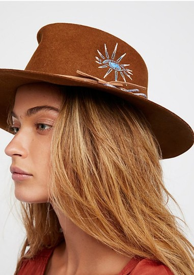 Free People Visionary Embroidered Felt Hat Image 1