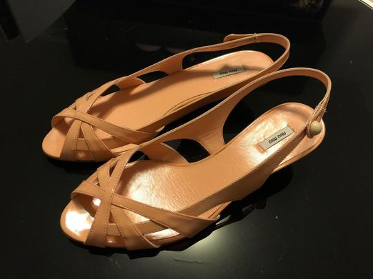 Miu Miu Flats Chanel Leather Strips Ivory/Grey/Gold Sandals Image 1