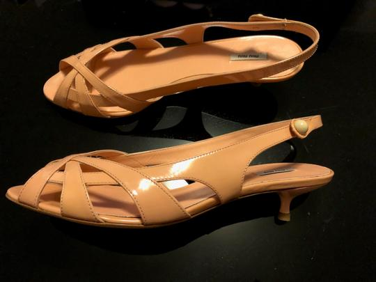 Miu Miu Flats Chanel Leather Strips Ivory/Grey/Gold Sandals Image 2