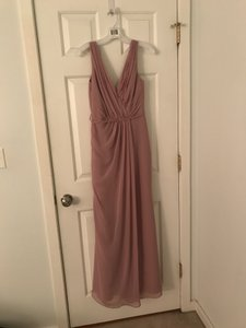 "David's Bridal Quartz Chiffon ""Long Tank"" 31113021 Feminine Bridesmaid/Mob Dress Size 4 (S)"