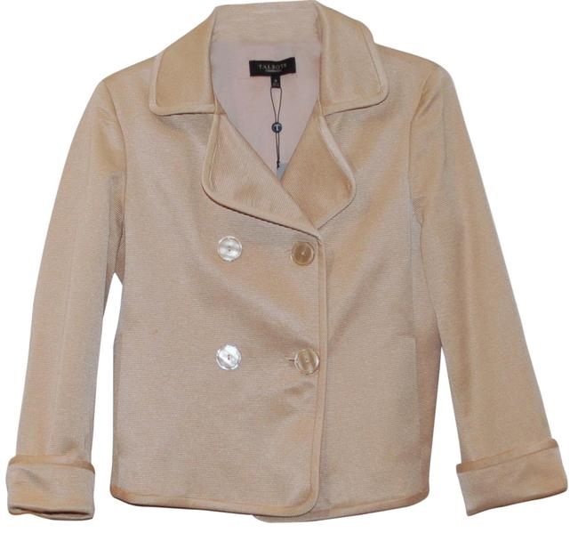 Item - Beige Double Breasted Jacket Size 10 (M)