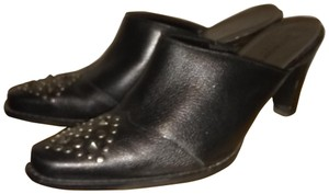 Liz Claiborne Leather Studded black Mules