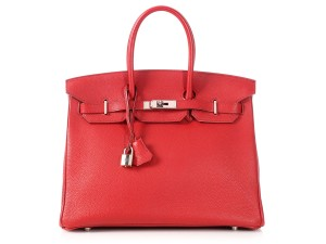 Hermès 35 Leather Hr.p0625.05 Reduced Price Satchel in Red