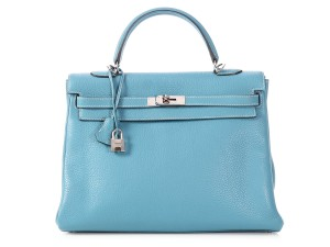 Hermès Palladium Hr.p0625.06 Bleu Jean Togo Satchel in Blue