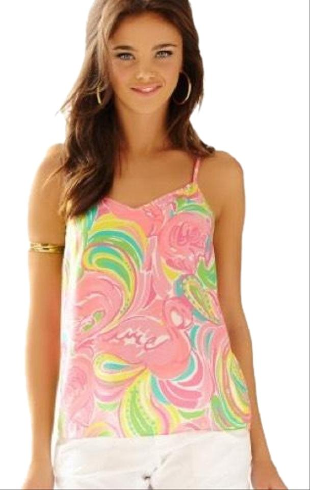 7328b8fc63d93 Lilly Pulitzer Pink Dusk Multi All-nighter Tank Top Cami Size 4 (S ...