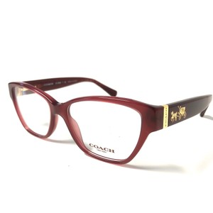 99a3d01e9e25 Coach Coach Burgundy Women's Eyeglasses New Authentic