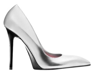 Calvin Klein Collection Metallic Silver Formal