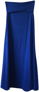 Lily White Maxi Skirt blue