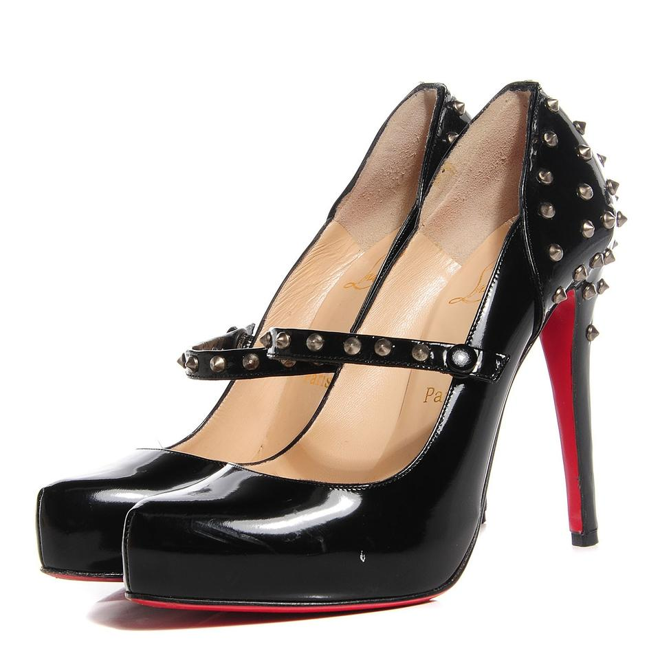 watch cf221 cbb0a Christian Louboutin Black Mad Mary Spiked Mary Jane Pumps Size EU 37  (Approx. US 7) Regular (M, B) 81% off retail