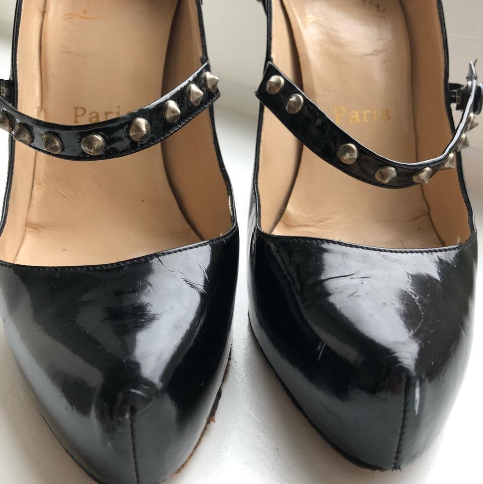 Mad Mary Jane Pumps Spiked Christian Louboutin Mary Black qCwfB8A