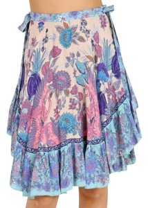 Spell & the Gypsy Collective Skirt Purple, blue, pink & cream