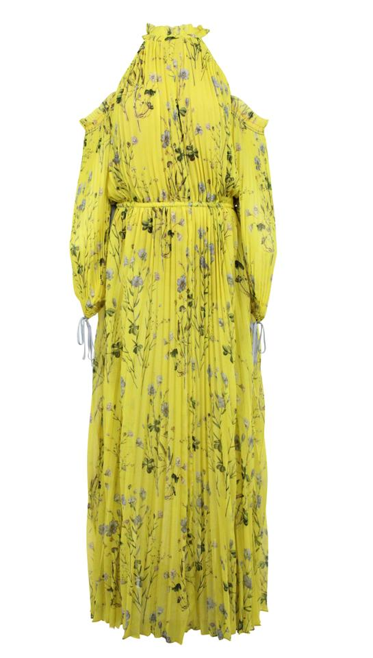 c2fa3fd70190 self-portrait Yellow Floral Printed Long Casual Maxi Dress Size 8 (M ...