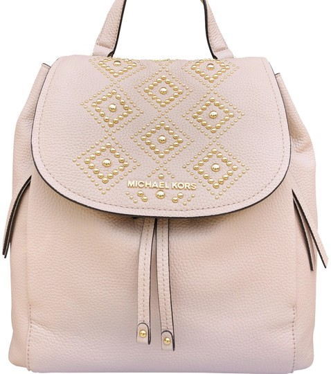 8c7cb69b1ad6 Michael Kors Riley Large Ballet Pink Gold Studded Drawstring Flap ...