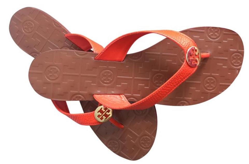 cbc2decec498 Tory Burch Multicolor End-of-summer-sale Samba Gold Thora Thong Leather  Sandals. Size  US 9 ...