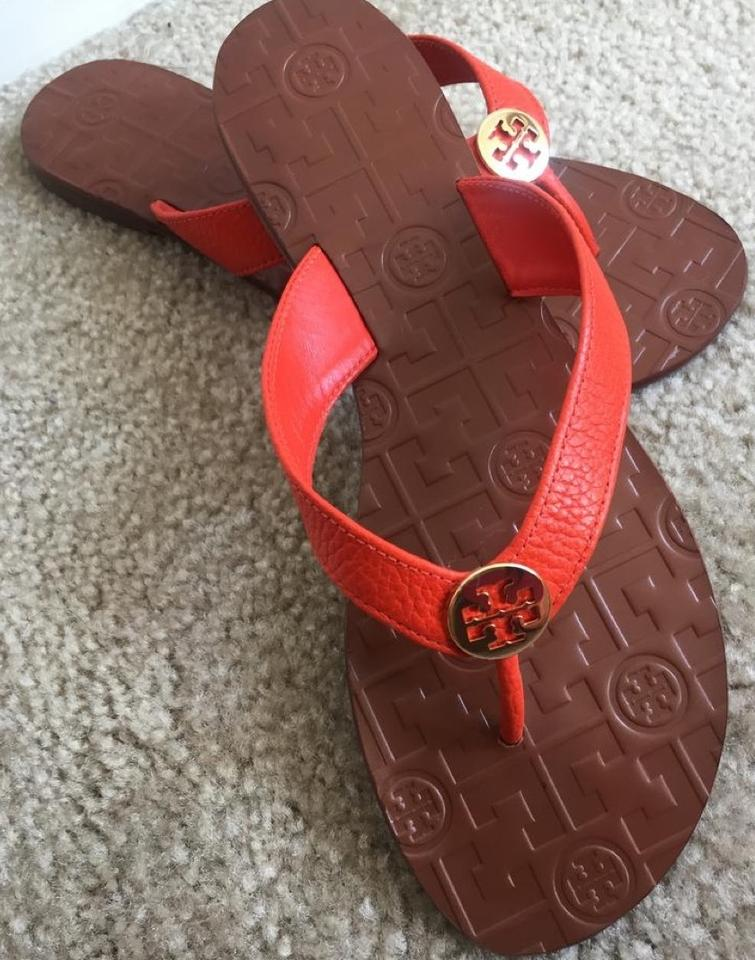 cf36092bf924 Tory Burch Multicolor End-of-summer-sale Samba Gold Thora Thong Leather  Sandals Size US 9 Regular (M