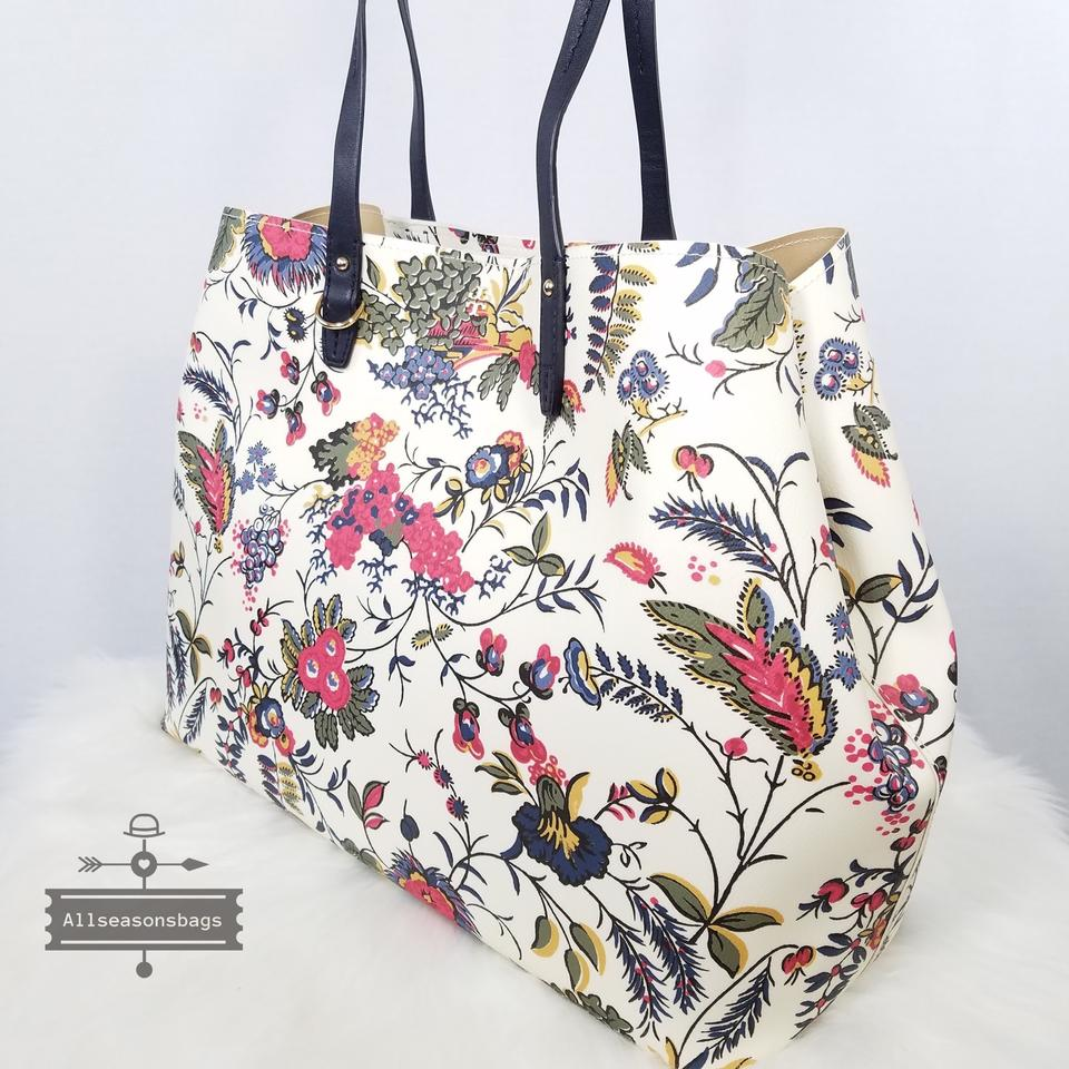 Square Tory New Kerrington Gabriella Ivory Floral Tote Multicolor Burch Shoulder tqErAt