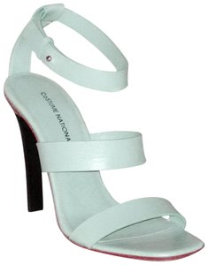 CoSTUME NATIONAL New Lima Anice Blue Strappy Ize 38 Aqua Sandals