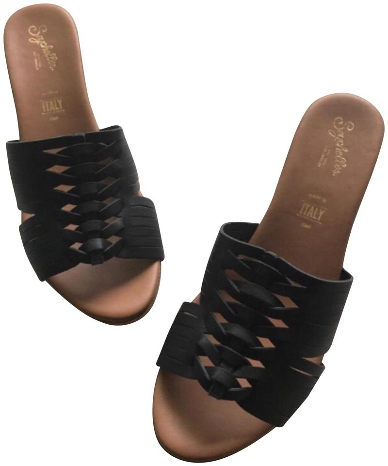 Seychelles Black/Tan Awe Leather Wedge Wedge Wedge Sandals 86453e