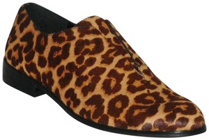 1.STATE Leopard Leather Leopard Oxford Size 8 Brown Flats