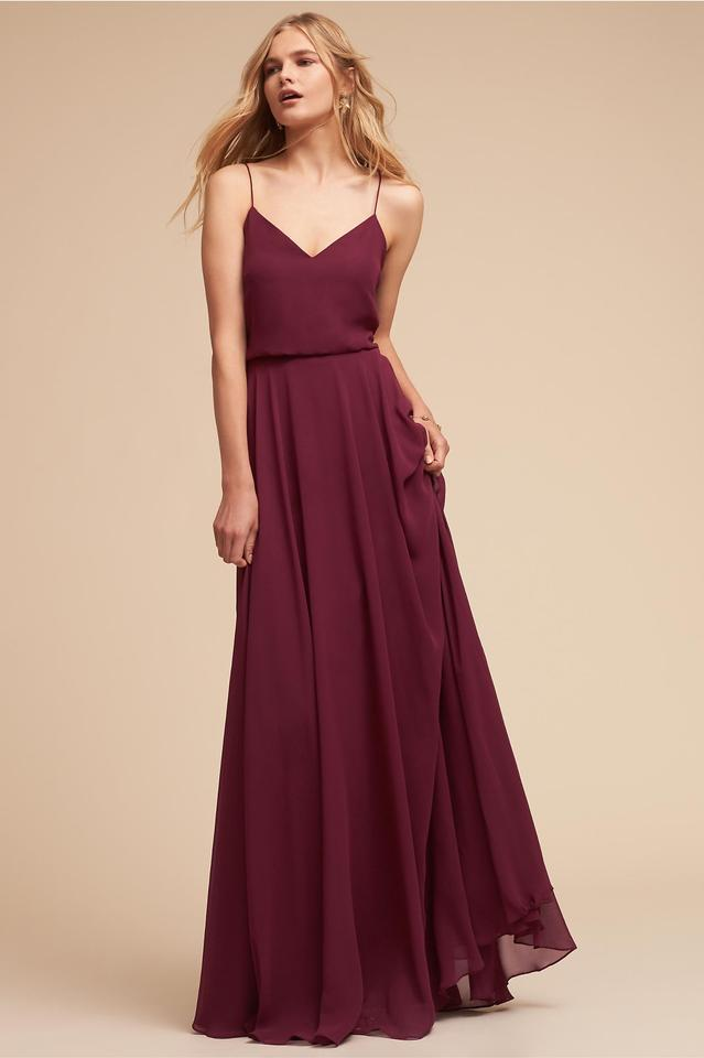 6ce8aae6849 Jenny Yoo Burgundy Luxe Chiffon Inesse In Sangria Formal Bridesmaid Mob  Dress