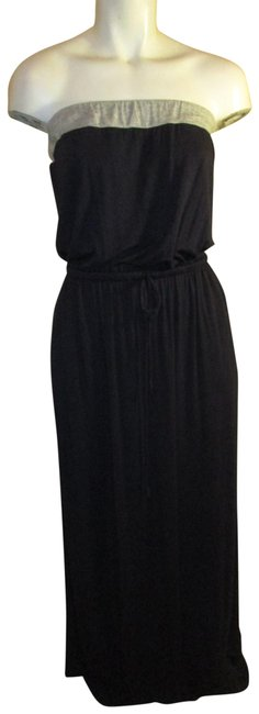 Item - Navy & Gray Strapless Knit Long Casual Maxi Dress Size 2 (XS)