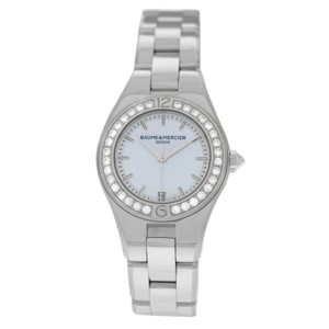 Baume & Mercier New Ladies Baume & Mercier Linea MOA10013 Steel MOP Diamond 27MM Quart