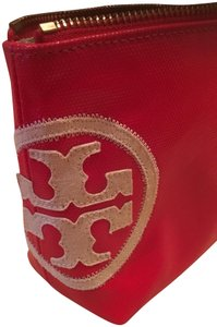 Tory Burch Tory Burch Beach Dipped Small Slouchy Cosmetic Bag, Red