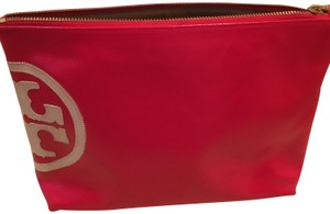 Tory Burch Beach Dipped Large Slouchy Cosmetic Bag Masaai Red