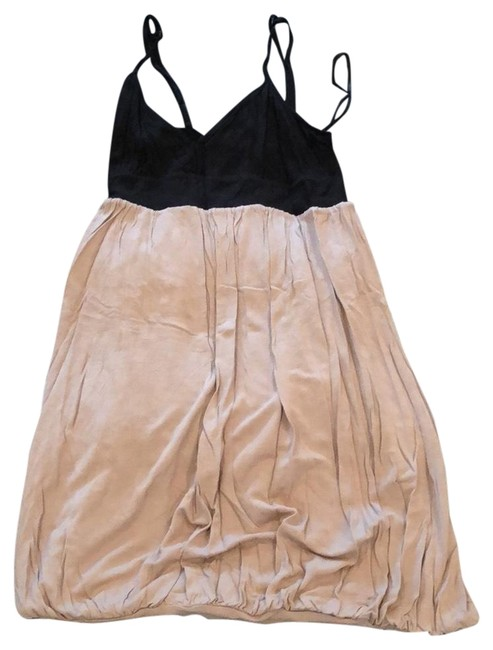 Item - Black and Beige Bubble Glow Long Short Casual Dress Size 4 (S)
