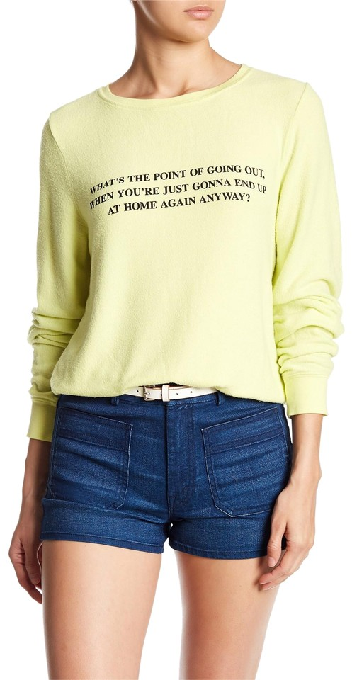 4cdc856891 Wildfox Baggy What's The Point Beach Jumper New Yellow Glow Sweater ...