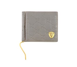 262c1825aea8b Gucci Gray Guccissima Gg Monogram Leather Bifold Money Clip Wallet ...
