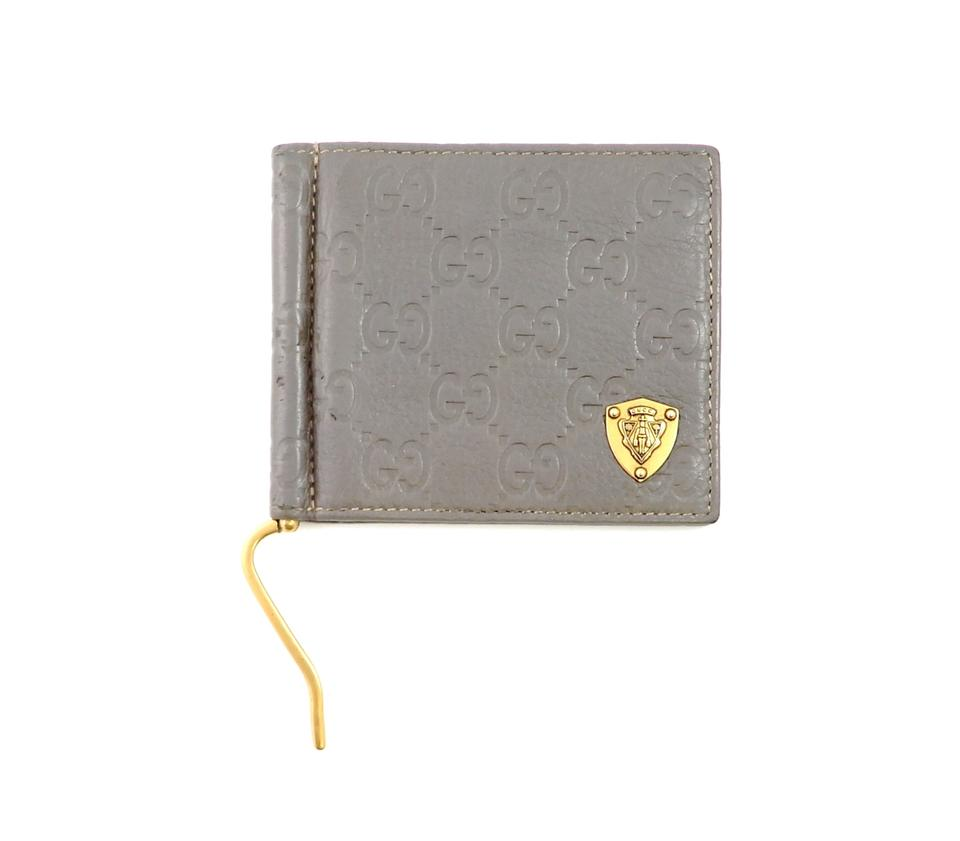 d66b0b868afa Gucci Guccissima GG Monogram Leather Bifold Money Clip Wallet Image 0 ...